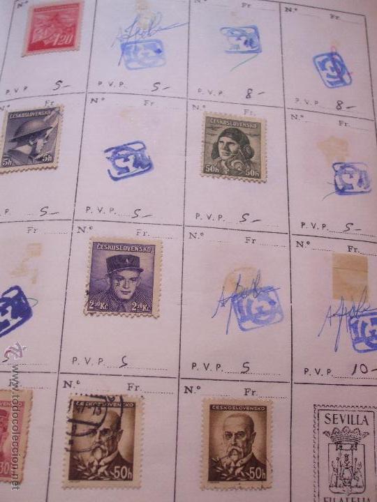 Sellos: .checoslovaquia 8 libretas aproximadamente 1540 sellos clasificados, diversas calidades + fotos - Foto 31 - 51002279
