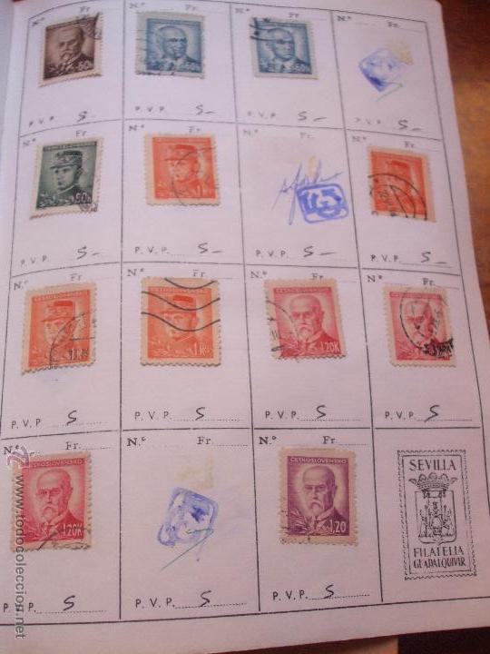 Sellos: .checoslovaquia 8 libretas aproximadamente 1540 sellos clasificados, diversas calidades + fotos - Foto 32 - 51002279