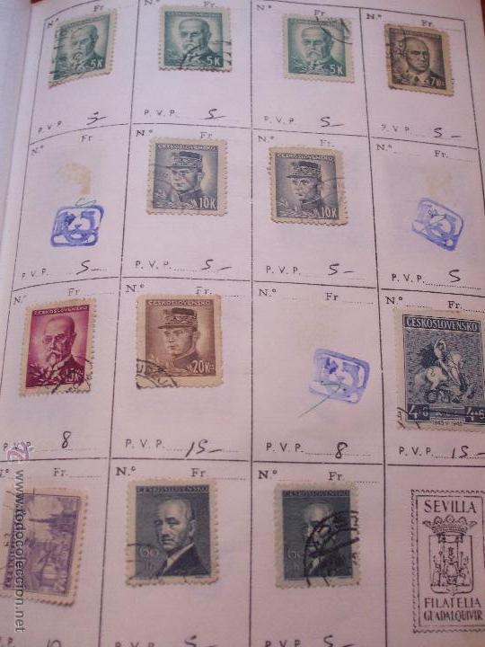 Sellos: .checoslovaquia 8 libretas aproximadamente 1540 sellos clasificados, diversas calidades + fotos - Foto 34 - 51002279