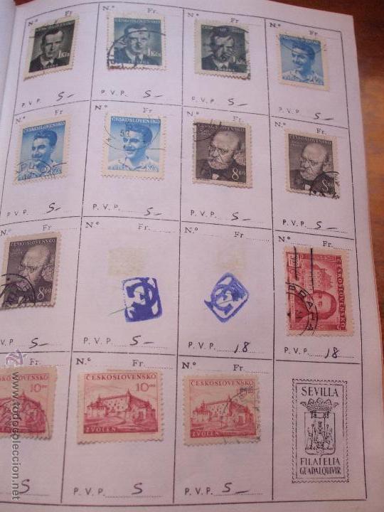 Sellos: .checoslovaquia 8 libretas aproximadamente 1540 sellos clasificados, diversas calidades + fotos - Foto 38 - 51002279