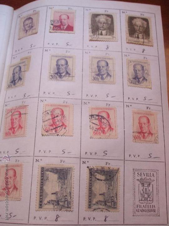 Sellos: .checoslovaquia 8 libretas aproximadamente 1540 sellos clasificados, diversas calidades + fotos - Foto 40 - 51002279