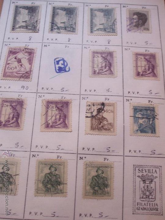 Sellos: .checoslovaquia 8 libretas aproximadamente 1540 sellos clasificados, diversas calidades + fotos - Foto 41 - 51002279