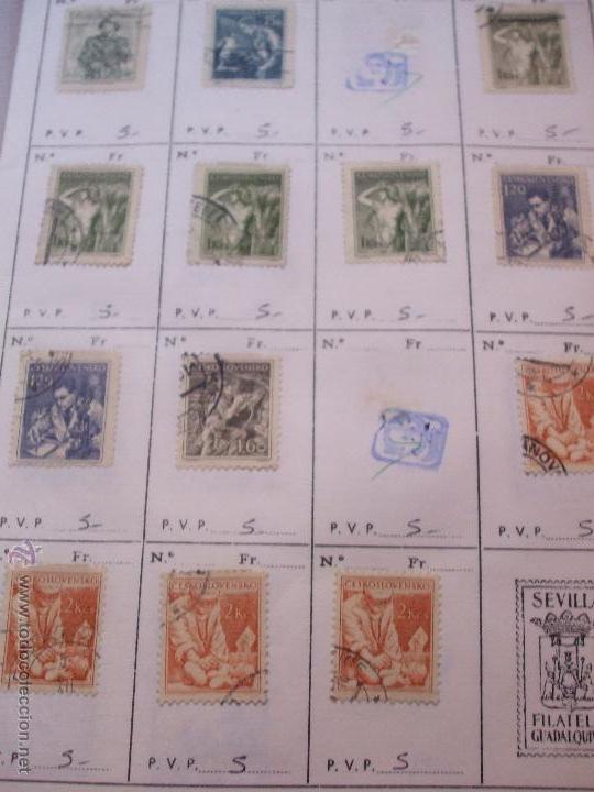 Sellos: .checoslovaquia 8 libretas aproximadamente 1540 sellos clasificados, diversas calidades + fotos - Foto 42 - 51002279