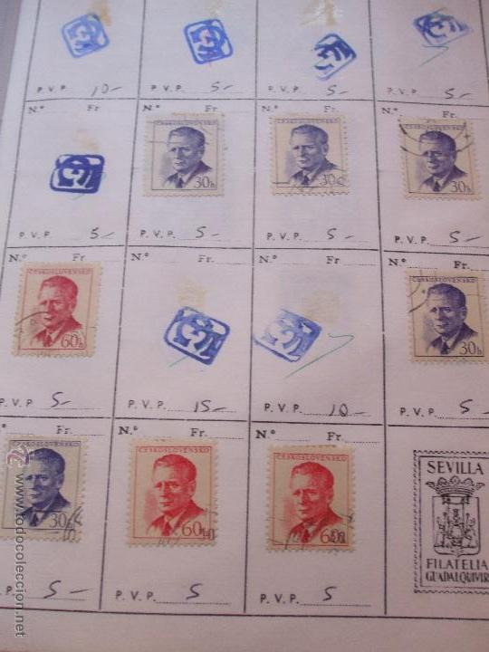 Sellos: .checoslovaquia 8 libretas aproximadamente 1540 sellos clasificados, diversas calidades + fotos - Foto 45 - 51002279