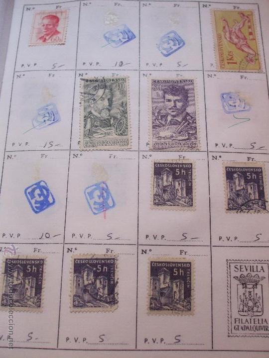 Sellos: .checoslovaquia 8 libretas aproximadamente 1540 sellos clasificados, diversas calidades + fotos - Foto 46 - 51002279