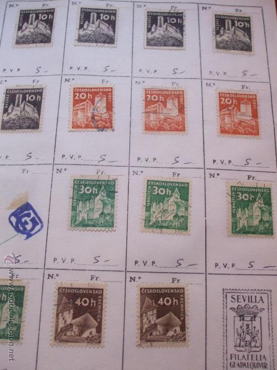 Sellos: .checoslovaquia 8 libretas aproximadamente 1540 sellos clasificados, diversas calidades + fotos - Foto 47 - 51002279