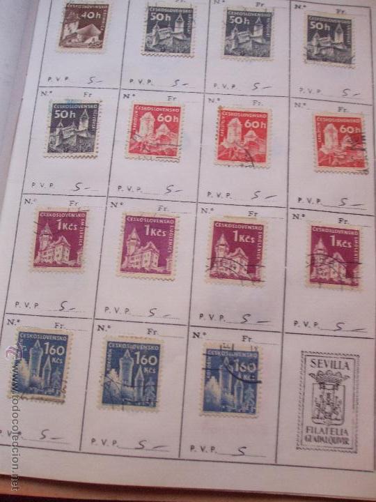 Sellos: .checoslovaquia 8 libretas aproximadamente 1540 sellos clasificados, diversas calidades + fotos - Foto 48 - 51002279
