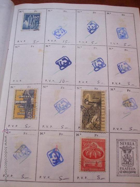 Sellos: .checoslovaquia 8 libretas aproximadamente 1540 sellos clasificados, diversas calidades + fotos - Foto 49 - 51002279