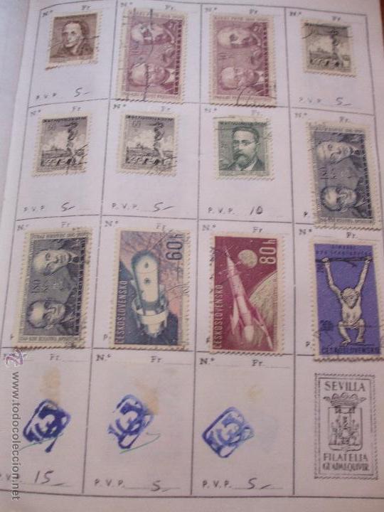 Sellos: .checoslovaquia 8 libretas aproximadamente 1540 sellos clasificados, diversas calidades + fotos - Foto 52 - 51002279