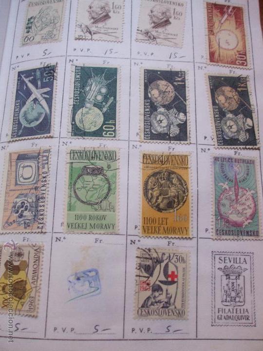 Sellos: .checoslovaquia 8 libretas aproximadamente 1540 sellos clasificados, diversas calidades + fotos - Foto 54 - 51002279