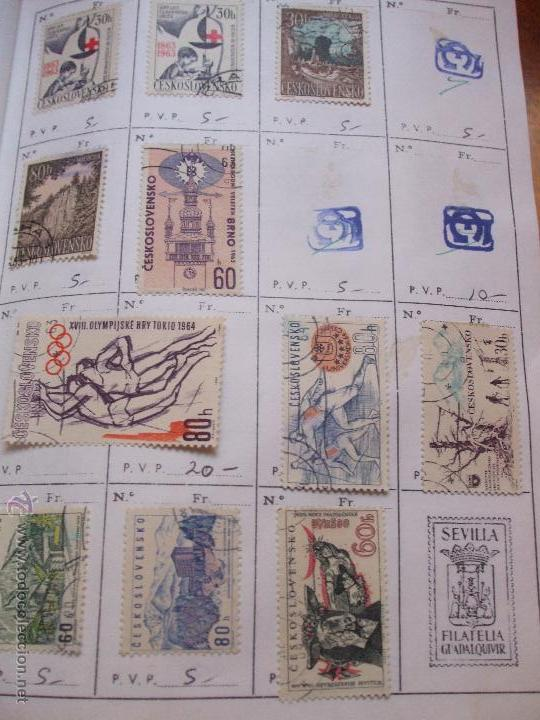 Sellos: .checoslovaquia 8 libretas aproximadamente 1540 sellos clasificados, diversas calidades + fotos - Foto 55 - 51002279
