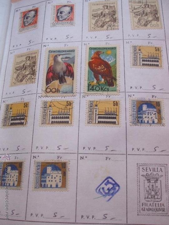 Sellos: .checoslovaquia 8 libretas aproximadamente 1540 sellos clasificados, diversas calidades + fotos - Foto 60 - 51002279
