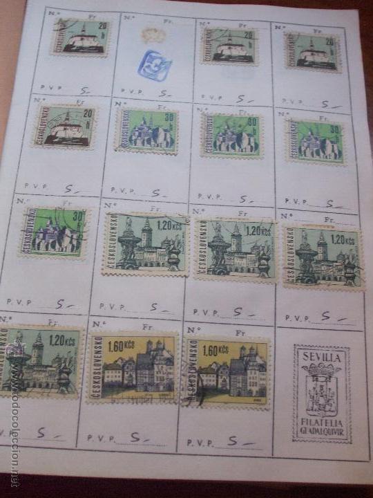 Sellos: .checoslovaquia 8 libretas aproximadamente 1540 sellos clasificados, diversas calidades + fotos - Foto 61 - 51002279