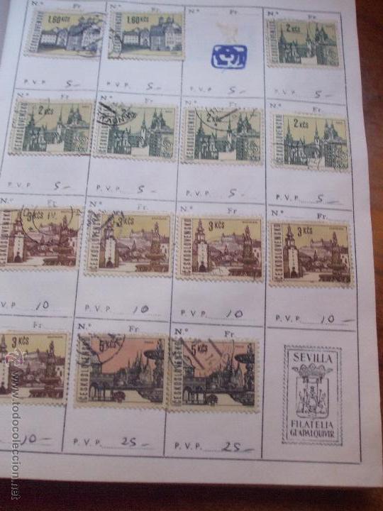Sellos: .checoslovaquia 8 libretas aproximadamente 1540 sellos clasificados, diversas calidades + fotos - Foto 62 - 51002279