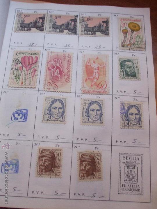 Sellos: .checoslovaquia 8 libretas aproximadamente 1540 sellos clasificados, diversas calidades + fotos - Foto 63 - 51002279