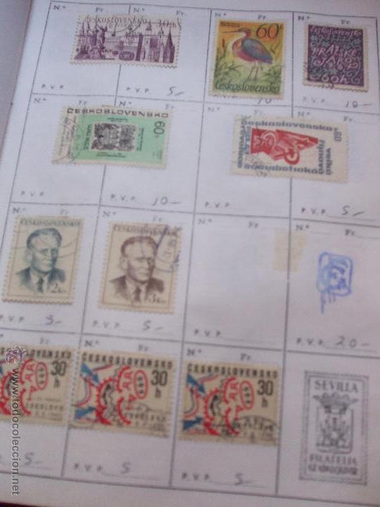 Sellos: .checoslovaquia 8 libretas aproximadamente 1540 sellos clasificados, diversas calidades + fotos - Foto 67 - 51002279
