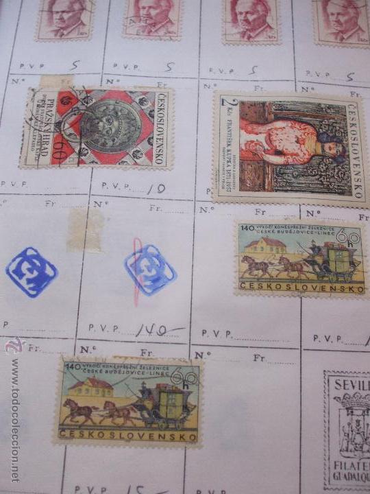 Sellos: .checoslovaquia 8 libretas aproximadamente 1540 sellos clasificados, diversas calidades + fotos - Foto 69 - 51002279