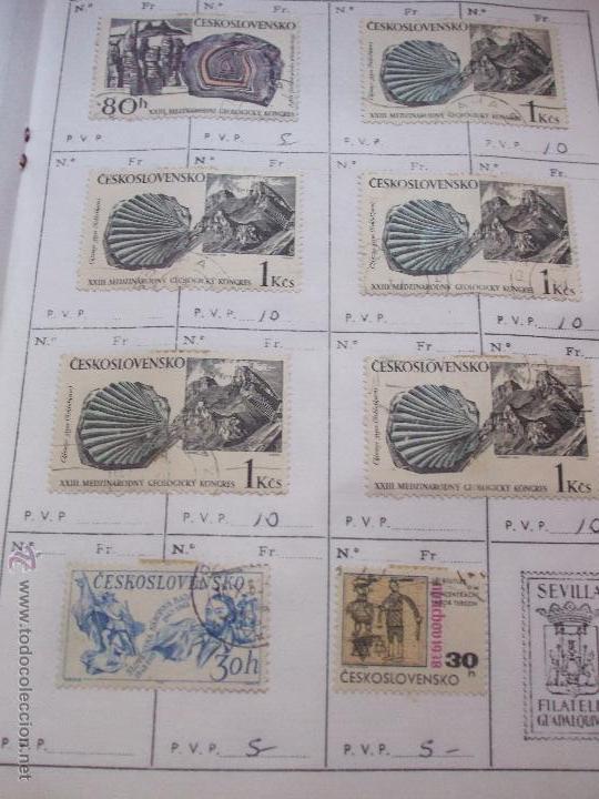 Sellos: .checoslovaquia 8 libretas aproximadamente 1540 sellos clasificados, diversas calidades + fotos - Foto 71 - 51002279