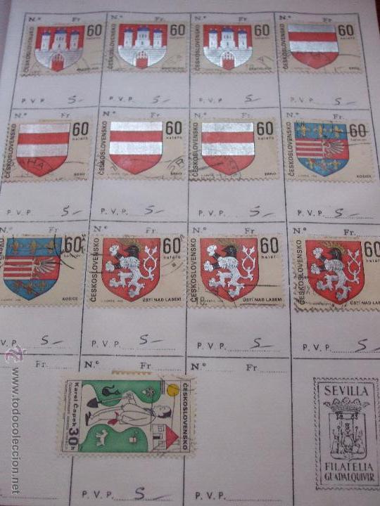Sellos: .checoslovaquia 8 libretas aproximadamente 1540 sellos clasificados, diversas calidades + fotos - Foto 73 - 51002279