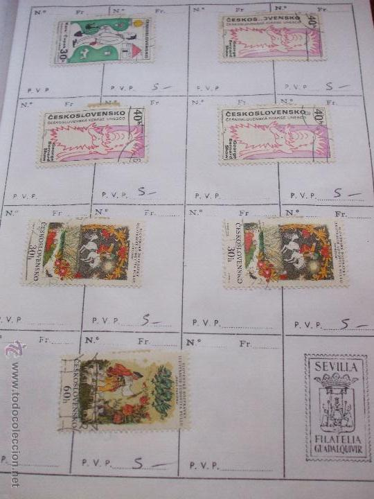 Sellos: .checoslovaquia 8 libretas aproximadamente 1540 sellos clasificados, diversas calidades + fotos - Foto 74 - 51002279