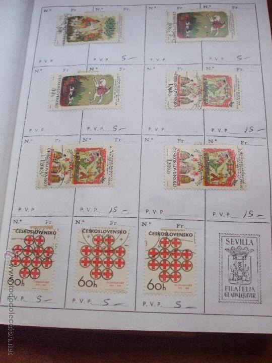 Sellos: .checoslovaquia 8 libretas aproximadamente 1540 sellos clasificados, diversas calidades + fotos - Foto 75 - 51002279