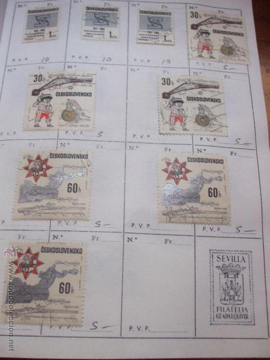 Sellos: .checoslovaquia 8 libretas aproximadamente 1540 sellos clasificados, diversas calidades + fotos - Foto 76 - 51002279