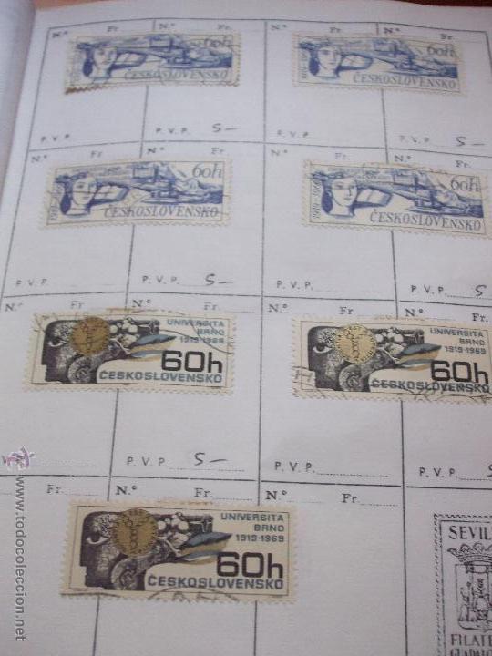 Sellos: .checoslovaquia 8 libretas aproximadamente 1540 sellos clasificados, diversas calidades + fotos - Foto 77 - 51002279