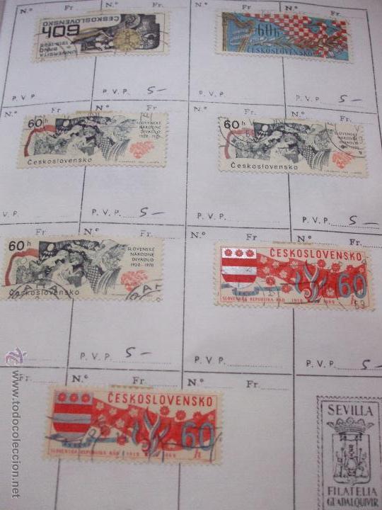 Sellos: .checoslovaquia 8 libretas aproximadamente 1540 sellos clasificados, diversas calidades + fotos - Foto 78 - 51002279