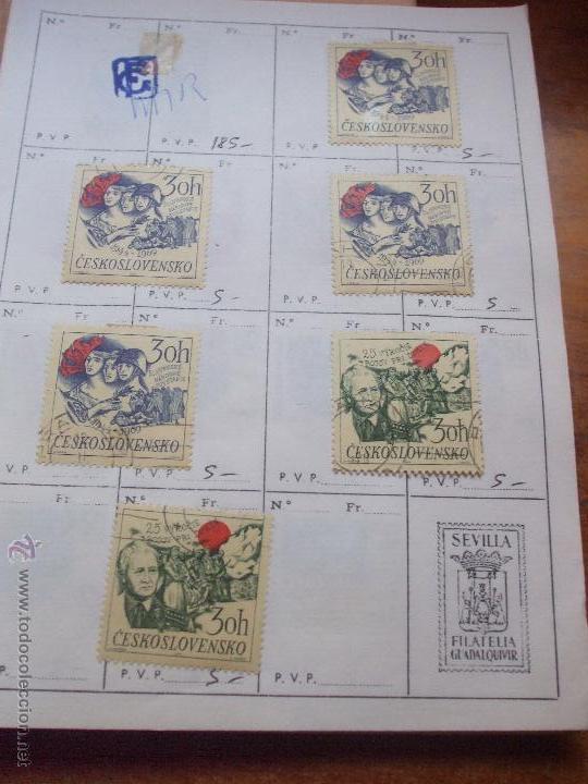 Sellos: .checoslovaquia 8 libretas aproximadamente 1540 sellos clasificados, diversas calidades + fotos - Foto 81 - 51002279
