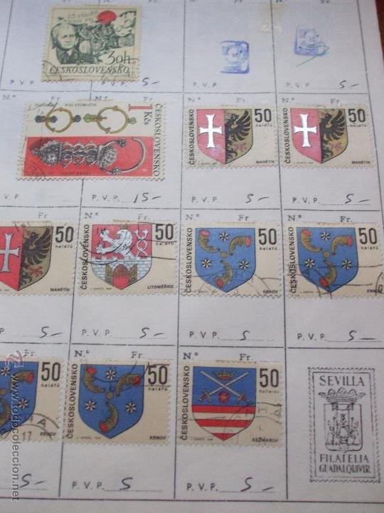 Sellos: .checoslovaquia 8 libretas aproximadamente 1540 sellos clasificados, diversas calidades + fotos - Foto 82 - 51002279