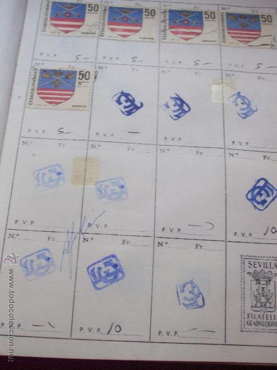 Sellos: .checoslovaquia 8 libretas aproximadamente 1540 sellos clasificados, diversas calidades + fotos - Foto 83 - 51002279