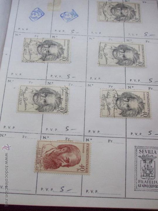 Sellos: .checoslovaquia 8 libretas aproximadamente 1540 sellos clasificados, diversas calidades + fotos - Foto 84 - 51002279