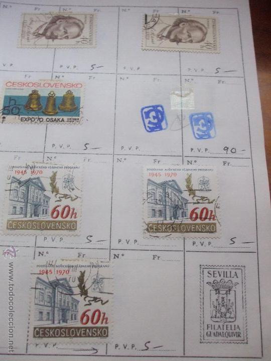Sellos: .checoslovaquia 8 libretas aproximadamente 1540 sellos clasificados, diversas calidades + fotos - Foto 87 - 51002279