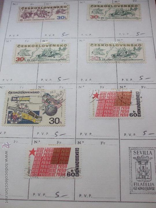 Sellos: .checoslovaquia 8 libretas aproximadamente 1540 sellos clasificados, diversas calidades + fotos - Foto 89 - 51002279