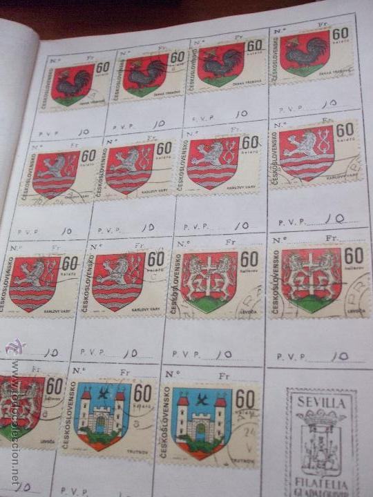 Sellos: .checoslovaquia 8 libretas aproximadamente 1540 sellos clasificados, diversas calidades + fotos - Foto 96 - 51002279