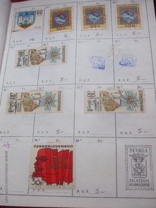 Sellos: .checoslovaquia 8 libretas aproximadamente 1540 sellos clasificados, diversas calidades + fotos - Foto 97 - 51002279