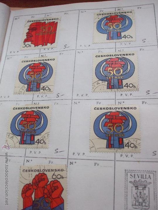 Sellos: .checoslovaquia 8 libretas aproximadamente 1540 sellos clasificados, diversas calidades + fotos - Foto 98 - 51002279