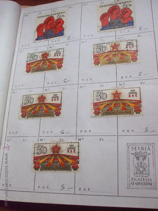Sellos: .checoslovaquia 8 libretas aproximadamente 1540 sellos clasificados, diversas calidades + fotos - Foto 99 - 51002279
