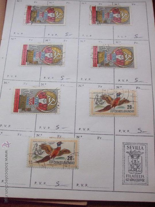 Sellos: .checoslovaquia 8 libretas aproximadamente 1540 sellos clasificados, diversas calidades + fotos - Foto 100 - 51002279
