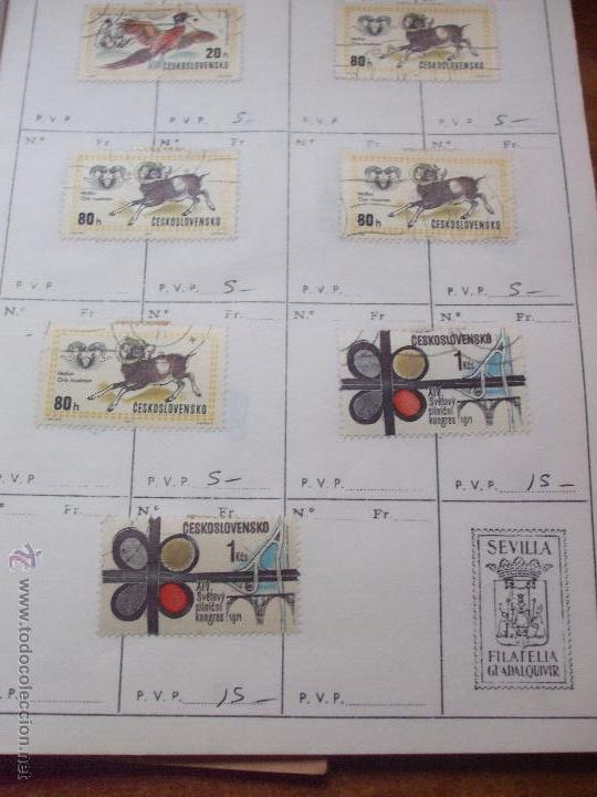 Sellos: .checoslovaquia 8 libretas aproximadamente 1540 sellos clasificados, diversas calidades + fotos - Foto 101 - 51002279
