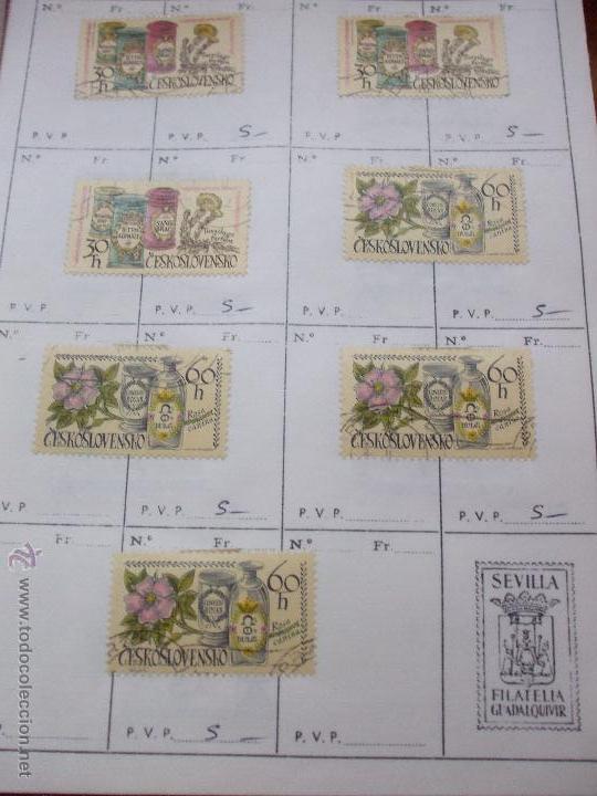 Sellos: .checoslovaquia 8 libretas aproximadamente 1540 sellos clasificados, diversas calidades + fotos - Foto 103 - 51002279