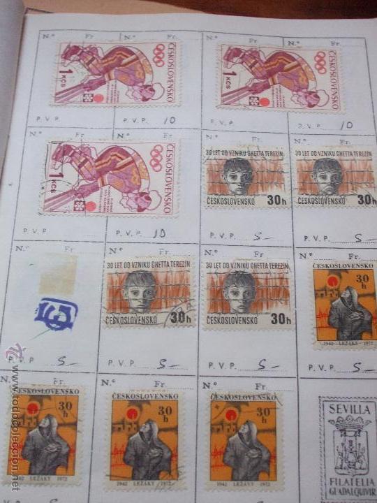 Sellos: .checoslovaquia 8 libretas aproximadamente 1540 sellos clasificados, diversas calidades + fotos - Foto 106 - 51002279