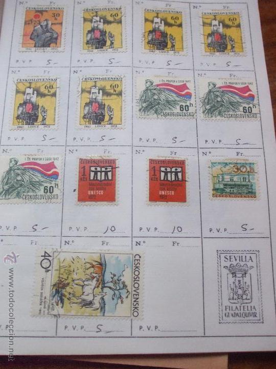 Sellos: .checoslovaquia 8 libretas aproximadamente 1540 sellos clasificados, diversas calidades + fotos - Foto 107 - 51002279