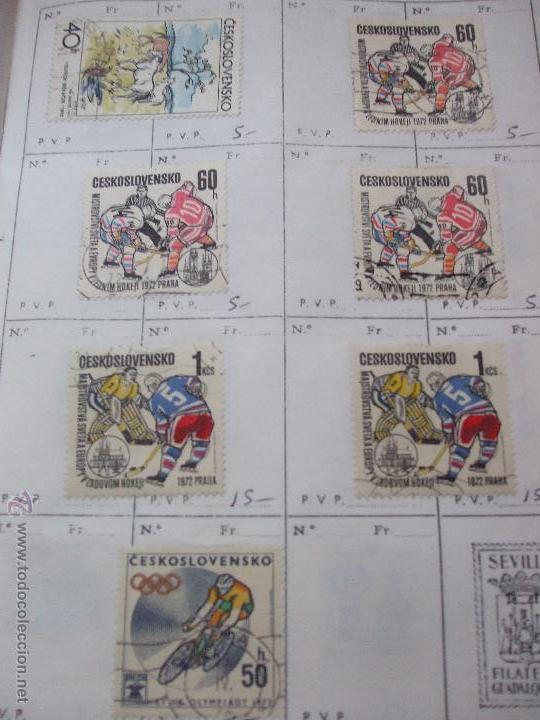 Sellos: .checoslovaquia 8 libretas aproximadamente 1540 sellos clasificados, diversas calidades + fotos - Foto 108 - 51002279