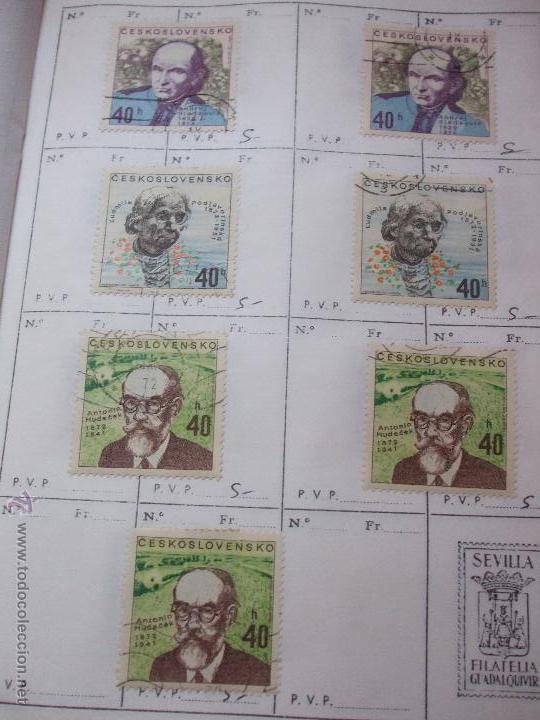 Sellos: .checoslovaquia 8 libretas aproximadamente 1540 sellos clasificados, diversas calidades + fotos - Foto 111 - 51002279