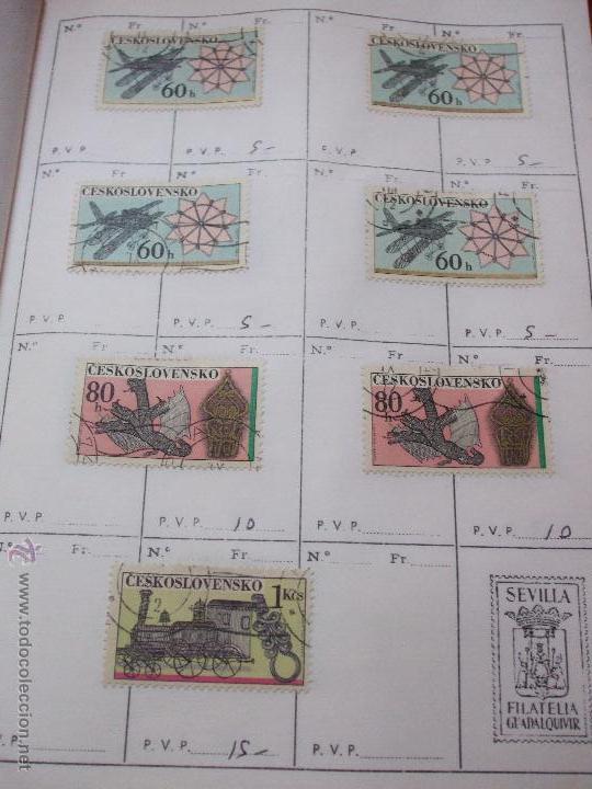 Sellos: .checoslovaquia 8 libretas aproximadamente 1540 sellos clasificados, diversas calidades + fotos - Foto 113 - 51002279