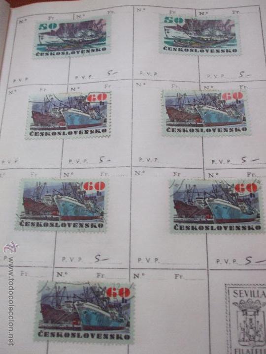 Sellos: .checoslovaquia 8 libretas aproximadamente 1540 sellos clasificados, diversas calidades + fotos - Foto 115 - 51002279