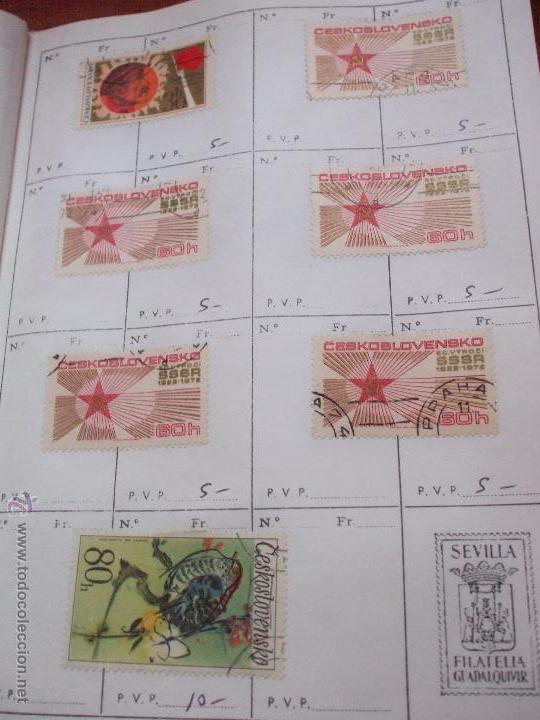 Sellos: .checoslovaquia 8 libretas aproximadamente 1540 sellos clasificados, diversas calidades + fotos - Foto 117 - 51002279