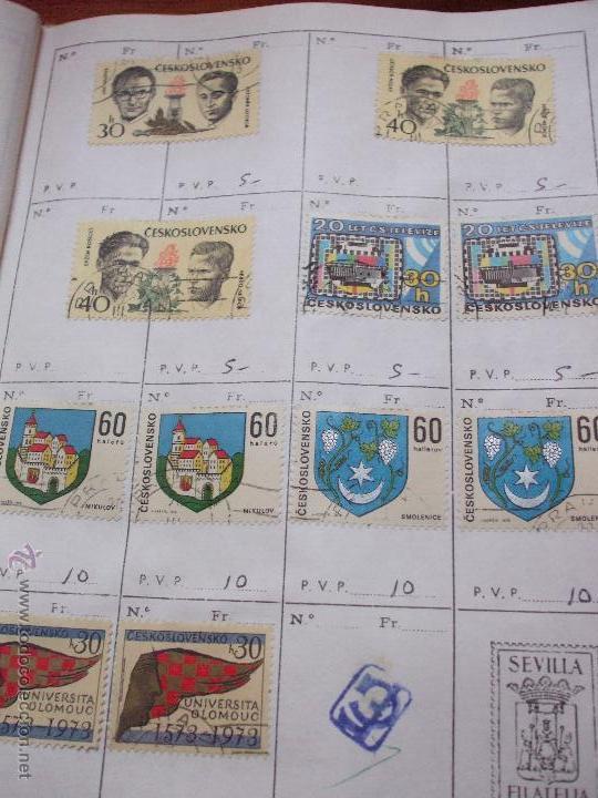 Sellos: .checoslovaquia 8 libretas aproximadamente 1540 sellos clasificados, diversas calidades + fotos - Foto 120 - 51002279