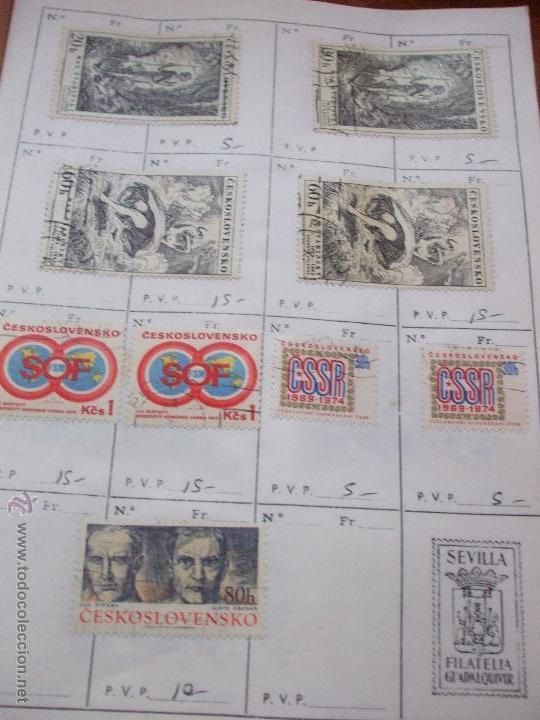 Sellos: .checoslovaquia 8 libretas aproximadamente 1540 sellos clasificados, diversas calidades + fotos - Foto 121 - 51002279